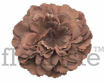 "BROWN Peony Flower, 3.5"" Flower, Wholesale Flower, Fabric Flower, Headband Flower, Flower Embellishment,  Diy Flower, DIY chiffon flower"