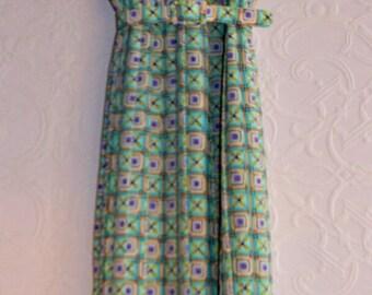 Vtg CURVY  DAY DRESS /16 Made in Canada for D'Allard's Dress/Easy Wear Original Girl Dress