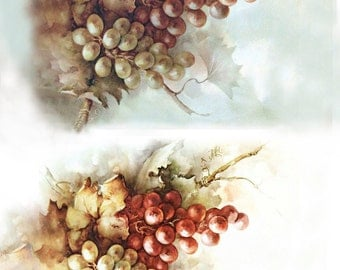 Decoupage card 28 Grape Grono . The size - 210×297 mm (8,27×11,69 inch). Density - 60 g/m2