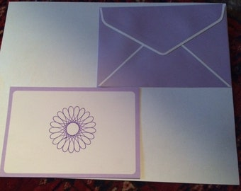 Handmade Spirograph Note Cards