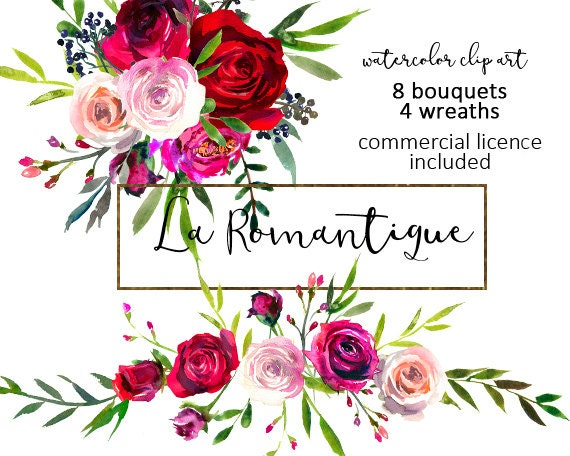 Bouquets wreaths png fall scarlett wedding flowers commercial use