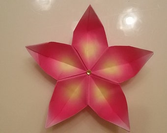 Flower kusudama placeholder/origami flower/sakura flower origami paper//fiori/placeholder blossom/price for one flower