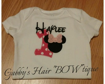 Minnie Mouse Embroidered Shirt
