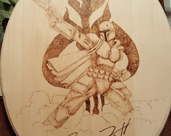 Boba Fett Woodburning