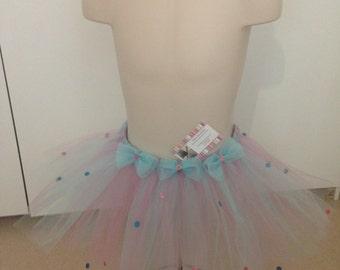 Pink and blue tutu skirt
