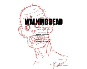 "Robert Kirkman ""The Walking Dead"" Signed Script Sketch Reprint"