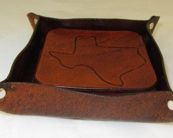 Coasters - Texas State leather coasters