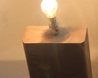 Solid oak table light