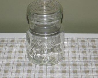 Vintage Ball Ideal Clear Glass Canning Jar with Lid