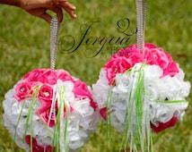 Bling Flower Girl Balls/ Balls Bouquet/Aisle Marker/ wedding balls/Kissing balls/ Rose balls/Wedding Pomanders
