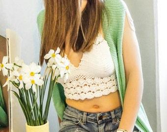 Summer vest. Cotton. Mint