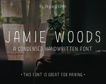 Handwritten font, Condensed font, Tall font, Script font download, hand lettered font, logo font, marker font, cute font, Sleek font