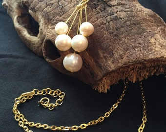 Pearl Necklace Freshwater Real Pearls