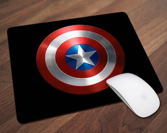 Captain America Mouse Pad, Superhero Mouse Pad, Avengers Mouse Pad, Office Gift, Co-Worker Gift, Boss Gift, Student Gift