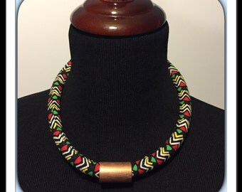 African Inspired Necklace & Earrings Set