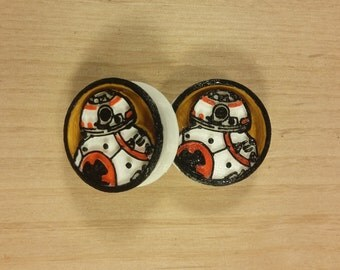 3D Star wars Plugs BB-8 Hand Painted 3D Printed