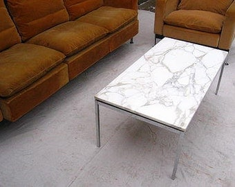 Florence Knoll,vintage,marble and stainless,coffee table