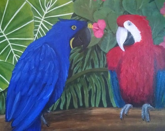 Tropical Macaw Painting