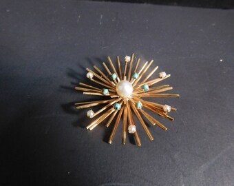 12k Gold Filled Spinx Brooch By Winard