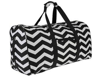 Chevron tote bag with free personalization