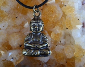 Meditating Buddha Charm Necklace