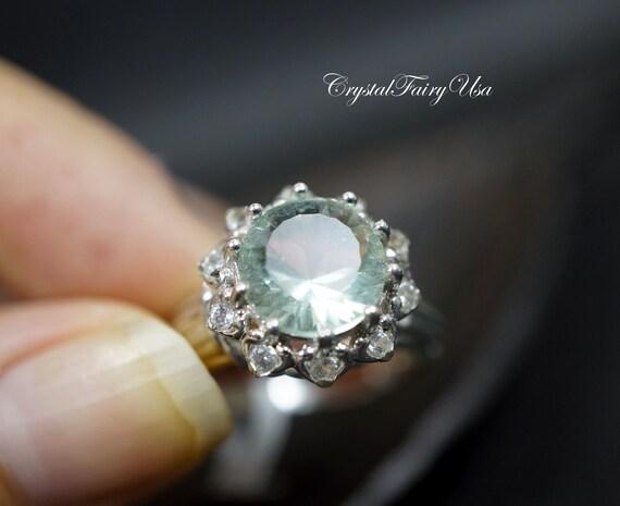 Fluorite Ring Genuine Green Quartz Ring Engagement Ring. Trinity Wedding Rings. Rolled Rings. Beautiful Rose Wedding Wedding Rings. Daisy Flower Engagement Rings. Glow Rings. Crafted Rings. Secret World Wedding Rings. Mystical Magic Rings