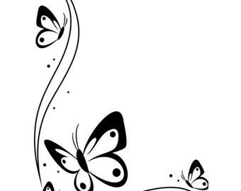 Butterfly Corner Embossing Folder - Butterfly Embossing folder - Card Embossing - Butterfly Border Embossing Folder - Butterfly  Border