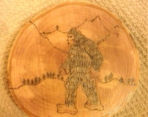 Bigfoot, Sasquatch drink coaster or other.