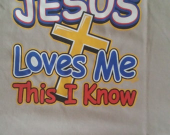 Jesus loves me this I know, adult t-shirt,