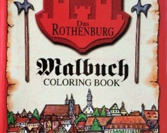 Rothenburg Germany Historical Coloring Book 48-pages Kids Adults