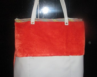 bag BRUNO orange and grey