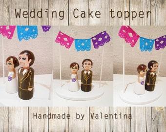 Wedding cake topper / wedding cake figure