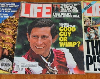 Vintage LIFE Magazines Lot of 3 issues 1987/1988