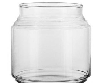 lot of 10 (NEW never used) Jars with lids for candle making- tops included