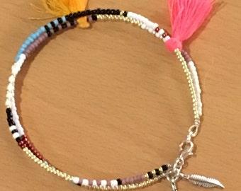 Ethnic double bracelet
