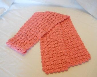 Coral Scarf, Crochet Scarf,