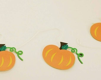 PUMKIN GARLAND--6FT--Thanksgiving-Fall Decor--Fireplace Decor--Little Pumkin Baby Shower