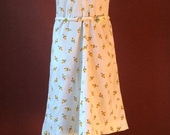 1960/70s Floral White Sundress.