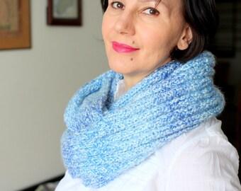 NO WOOL Scarf Infinity scarf Snood scarf Sky Bluy scarf  acrylic scarf