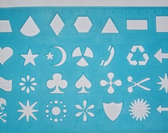 Type 06 Funny shape playing card happy smiley face plastic stencil template