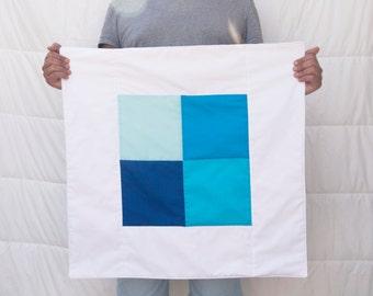 "Blue Hues 26""x26"" Quilt"