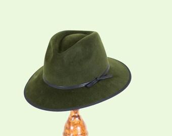 Wide Brim Fedora Hat/Trilby Fur Felt Hat/Akubra
