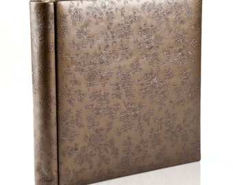 Custom Wedding Album. Personalized Wedding Photo Album.Leather cover.10X10 inches . 25X25 centimeters. 40 pages. Art design.