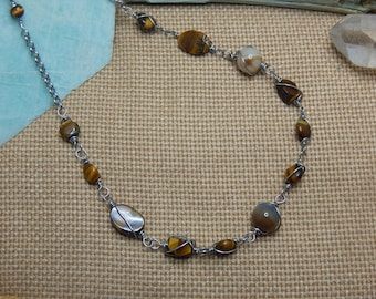 necklace of semi-precious stones