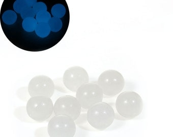 12 mm Acrylic Glow In The Dark Beads for Diffuser Pendants, Pack of 5 (1891)