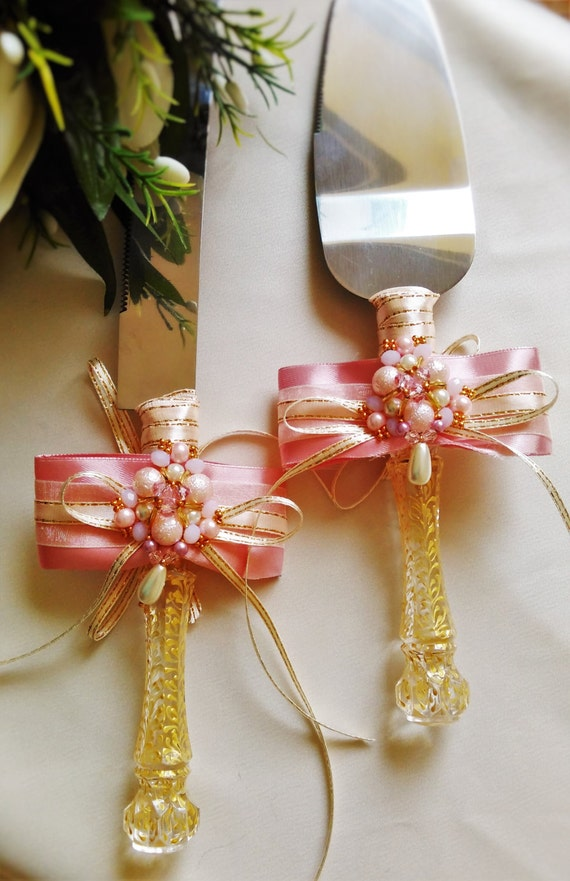 rose gold wedding cake cutter gold wedding cake server set wedding cake by weddingartgallery 19283