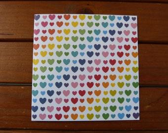 Map Rainbow hearts
