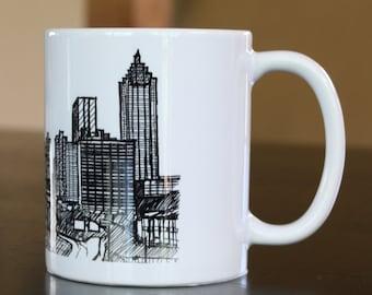 Items Similar To Any City Hand Painted Atlanta Skyline