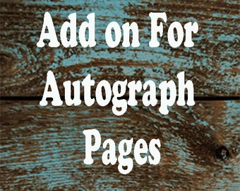 Autograph Pages and Photo Pages