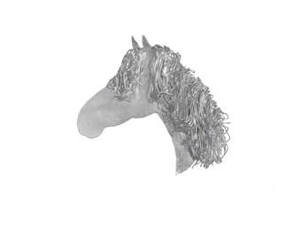 Silver horse head brooch, Horse Jewellery, Horse Jewelry, Horse Gift, Horse Present, Irish Draught Horse, Pony Jewellery, Pony Jewelry